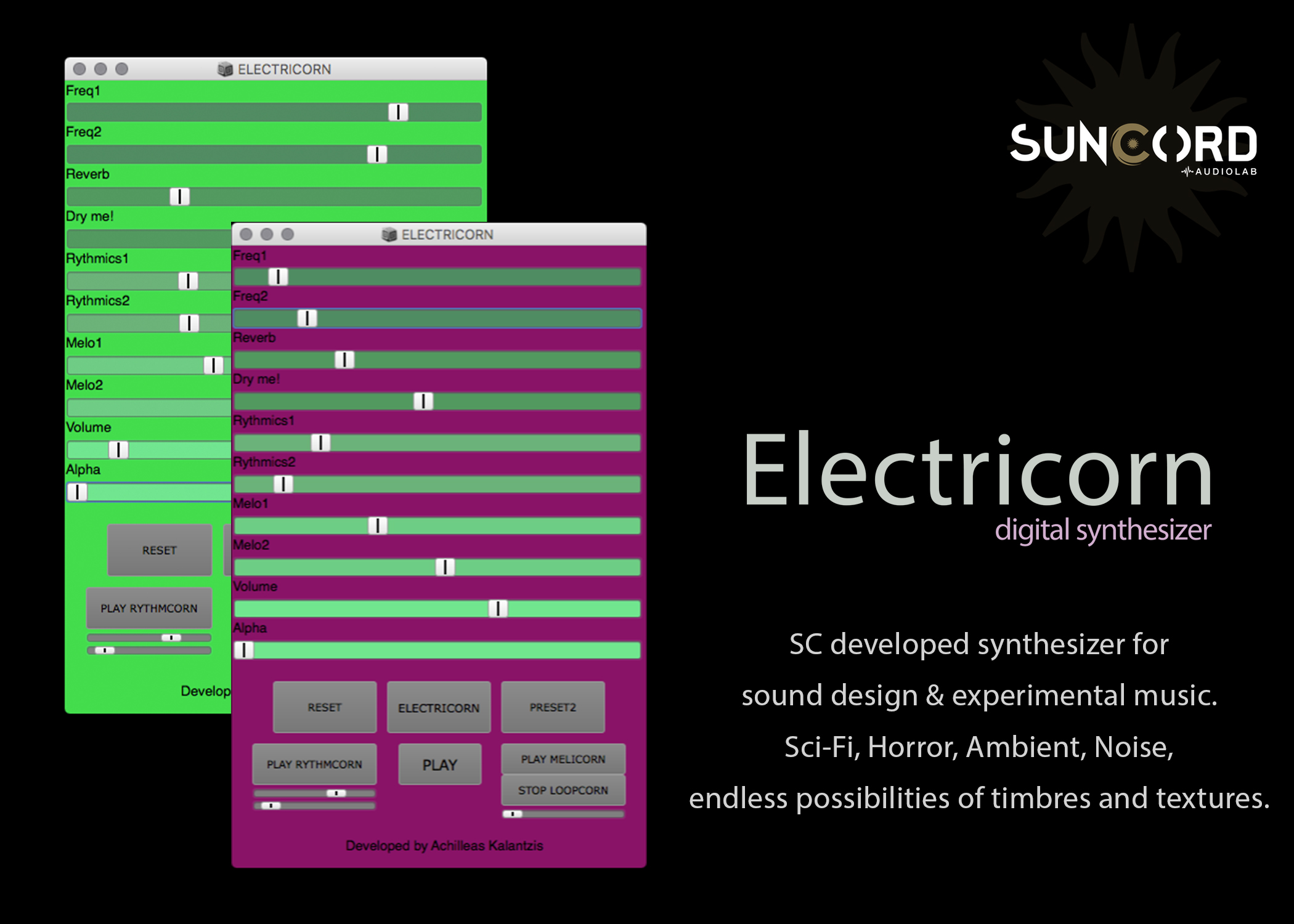 Electricorn: Digital Synth for Sound Design & Experimental